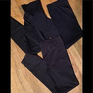 (3) Pairs of Basic Black Leggings